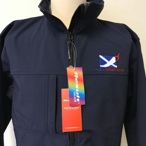 Merchandise - Soft shell jacket with alba airsports logo