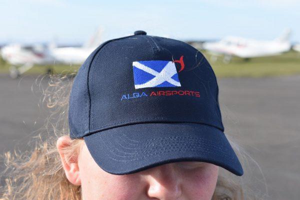 Merchandise - Navy cap with Alba Airsports logo