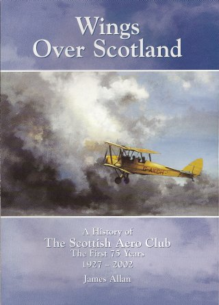 Scottish Aero Club front page of book about their history